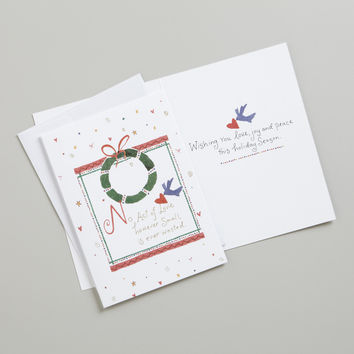 No Act of Love Boxed Holiday Cards, Set of 15 - World Market