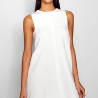 Tab Side Shift Dress | Boohoo