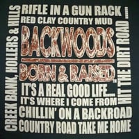 Southern Chaps Funny Backwoods Country Road Home Bright T Shirt