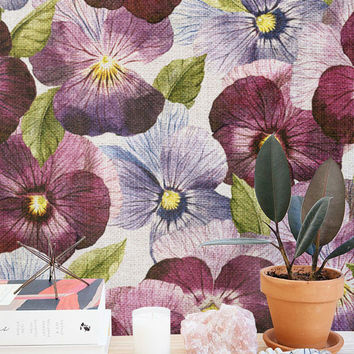 30% OFF from Purple Petunia Wallpaper | Removable Wallpaper | Self Adhesive Wallpaper | Temporary Wallpaper | Wall Sticker | Wall Decal