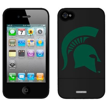Michigan State - Mascot design on a Black iPhone 4 / 4S Slider Case by Coveroo