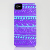 Simple Pattern PURPLE/AQUA iPhone Case by Kayla Gordon | Society6