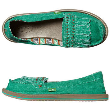 SANUK SHORTY IVY SLIP ON SHOE -SO- - SEA GLASS
