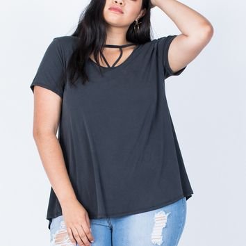 Plus Size Hold on You Tee