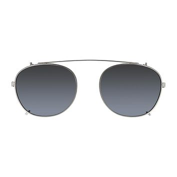 Life is Good - Oscar 49mm Gunmetal Clip On Sunglasses / Gray Lenses