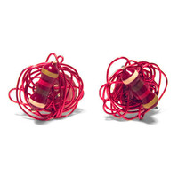 Resistor Earrings Brilliant Red Tangled Wire with by clonehardware