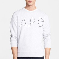 Men's A.P.C. Embroidered Shadow Logo Sweatshirt,