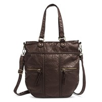 Women's Tote Handbag with Removeable Crossbody Strap - Brown