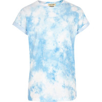 River Island Boys blue tie dye t-shirt
