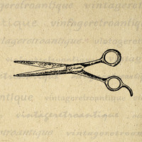 Digital Graphic Hair Cutting Shears Barber Scissors Image Illustration Printable Artwork Antique Clip Art HQ 300dpi No.1450