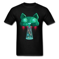 Anime T-Shirt cosplay Creative Design Men Male Summer Clothes Big Size XXXL UFO Alien Cat Air Ship Tshirt Men Funny Anime T Shirts On Sale 2018 AT_57_4