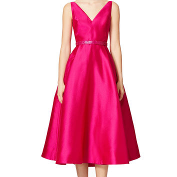 ML Monique Lhuillier Plunging Dress