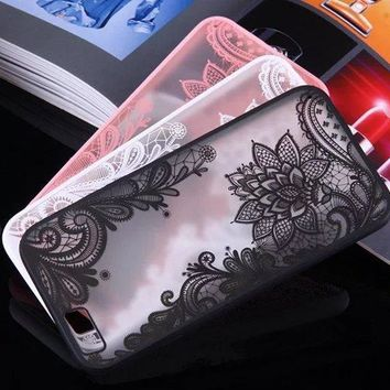 Soft Lace Phone Cover for iPhone 5 6 and 7 Plus