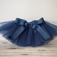 New Baby Tutu Skirts Infant Girls Solid Color Handmade Ballet Tutus Pettiskirt with Ribbon Bow and Flower Headband Newborn Skirt