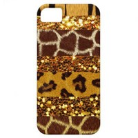 Faux Fur Faux Glitter Real Glamour iPhone 5 Cases from Zazzle.com
