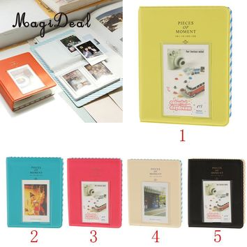 MagiDeal Delicate 1Pc Photo Album Namecard Storage Case Mini Film Book 64 Photos for Fun Instax Wedding Baby Shower Party Supply
