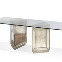 Marissa Mirrored Pedestal Dining Table
