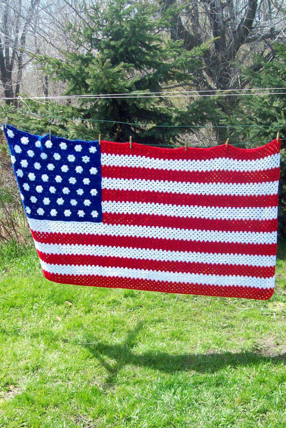 American Flag Afghan by amydscrochet on from amydscrochet ...