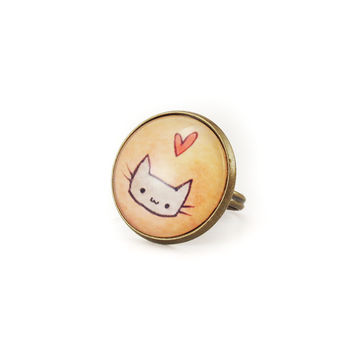Kawaii Kitty Cat Ring