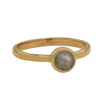 Mini Round Gold Bezel Ring