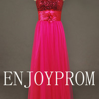 Sweetheart  Paillette Floor-length Bridesmaid/Evening/Prom Dress
