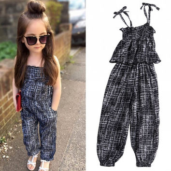 Rompers New Arrival Kids Baby Girls Clothing Summer Backless Sleeveless Fashion Vest Overall Jumpsuit Playsuit Romper Clothes UK