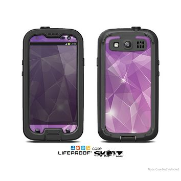 The Vector Shiny Pink Crystal Pattern Skin For The Samsung Galaxy S3 LifeProof Case