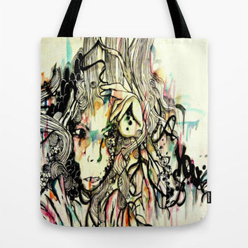 canvas tote bag - tote bag - woman purse - gift for her - backpack - art tote bag - pop art bag - watercolor tote bag