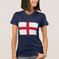 Women T Shirt with Flag of England