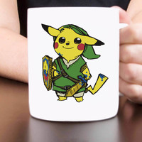 pokemon pikalink legend of zelda mug design