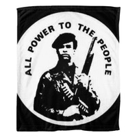 Huey Newton All Power to The People Fleece Blanket