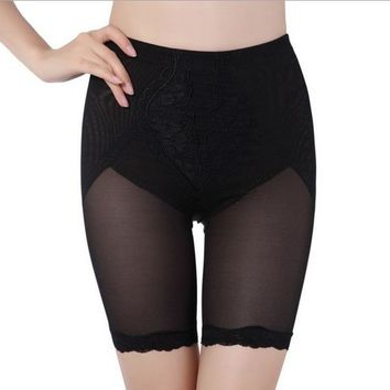 2 Colors Short Leggings Women Slim Waist Tummy Control Shape wear Lace Underwear