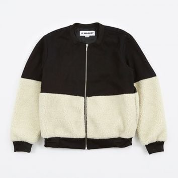 LF Markey Alonso Bomber Jacket - Black/Cream