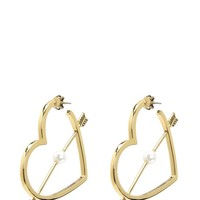 Gold Pearl Heart Hoop Earring by Juicy Couture, O/S