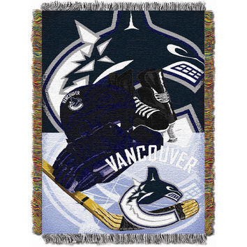 Vancouver Canucks NHL Woven Tapestry Throw Blanket (Home Ice Advantage) (48x60)