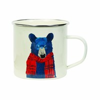Holiday Enamel Mug - Bear