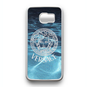 Versace logo on water Samsung Galaxy S6 Edge Case