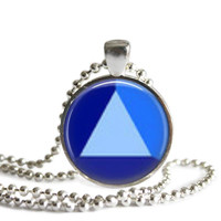 Steven Universe Sapphire Gem 1 Inch Silver Plated Picture Pendant 24 Inch Necklace