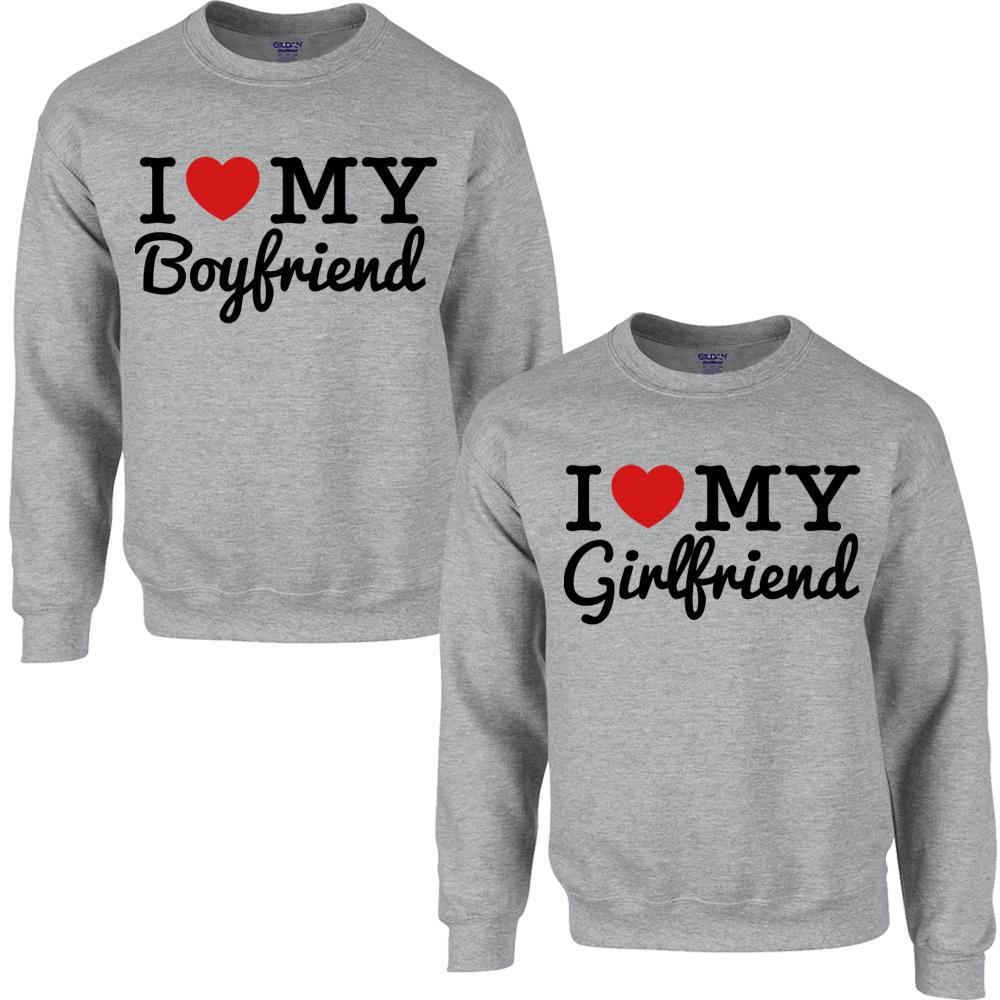 I LOVE MY BOYFRIEND I LOVE MY GIRLFRIEND from Teee Shop | Couples