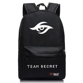 Fashion school bags candy colors Dota2 Turret mochila DOTA 2 Team Secret backpacks for teenagers
