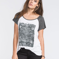Full Tilt Cosmic Womens Raglan Tee White  In Sizes