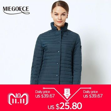 Trendy New Spring Collection of Jacket MIEGOFCE 2018 Stylish Windproof Women's Parka Coat Female Spring Jacket Coat Womens Quilted Coat AT_94_13