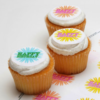 Ticings Birthday Blooms Icing Toppers, 15-Count - World Market