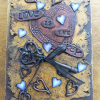Love Is The Key, Art Journal, Sketch Book, Watercolor Paper