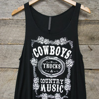 Cowboys, Trucks, Country Music Tank