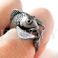 Miniature Fish Ring in Silver - Sizes 5 to 9 available | dotoly - Jewelry on ArtFire