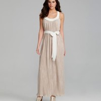 Gianni Bini Olivia Pleated Luster Maxi Dress | Dillards.com
