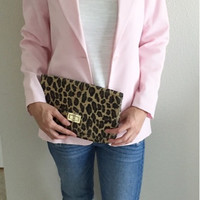 Vintage Light Blush Pink Boyfriend Blazer