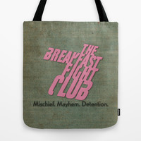 Breakfast Fight Club Tote Bag by spitzerdesign
