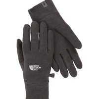 The North Face TKA 100 Glacier Gloves for Women in Graphite Grey Heather A6N2-A55